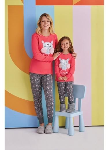 Roly Poly Rolypoly Boo Kadın Pijama Takımı Koyu Gri Kırmızı